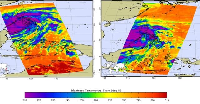 Ученые НАСА: Тайфун Хайан сильнейший за всю историю наблюдений (7 фото)