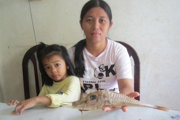 У берегов Борнео выловили неизвестную шипастую рыбу (4 фото)