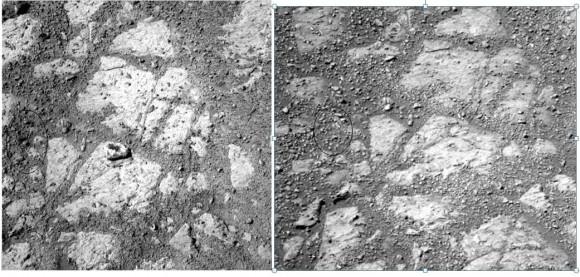 """Камень, """"подползший"""" к марсоходу, может быть грибом (3 фото)"""