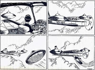 Нападение трех НЛО на мексиканского летчика в 1974 году (3 фото)