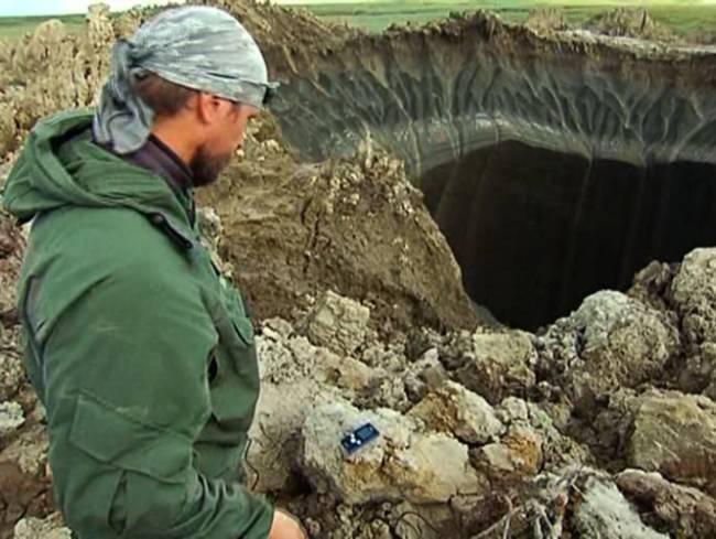 Геологи выдвинули новую теорию появления ямальского кратера (6 фото)