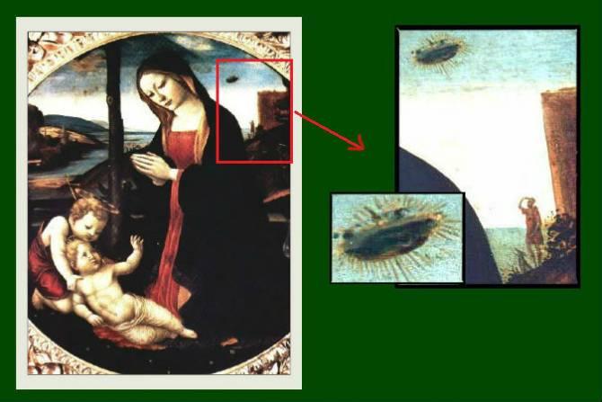 НЛО на картинах Ренессанса (5 фото)