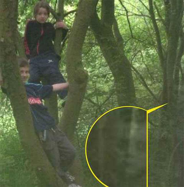 В лесу вместе с детьми засняли призрак девочки