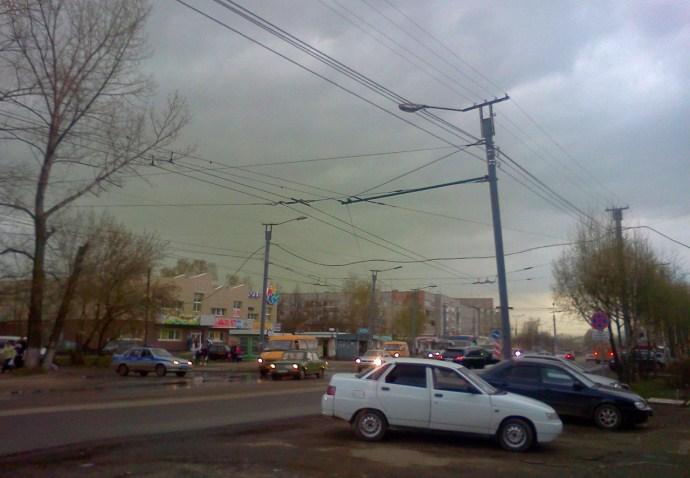 Зеленое облако над Йошкар-Олой