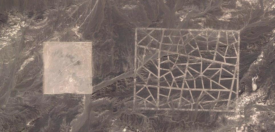Странные структуры в Гоби на картах Гугл.