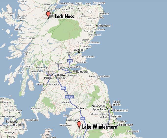 loch ness map - Bernhard.us