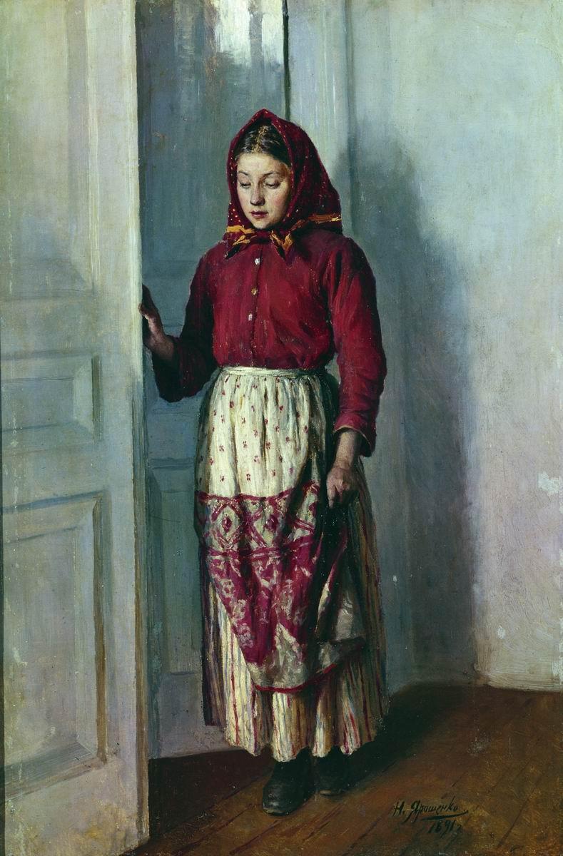 Девочка в ситцевом платье