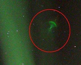 Зеленый НЛО завис над Норвегией