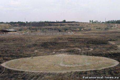Круги на полях добрались до Казахстана